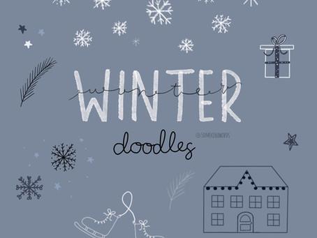 Tutorial: How to sketch cute winter doodles