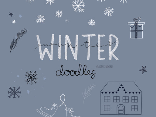 Tutorial: How to sketch cute winter doodles