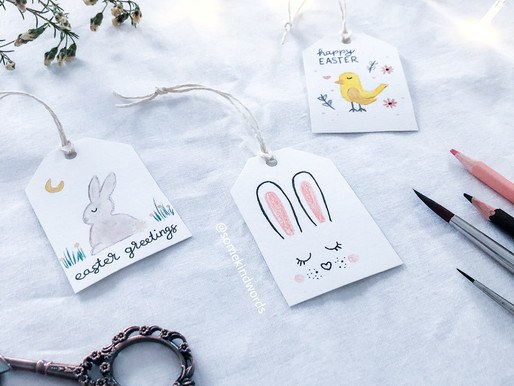 How-to: Easter Gift Tags with gouache