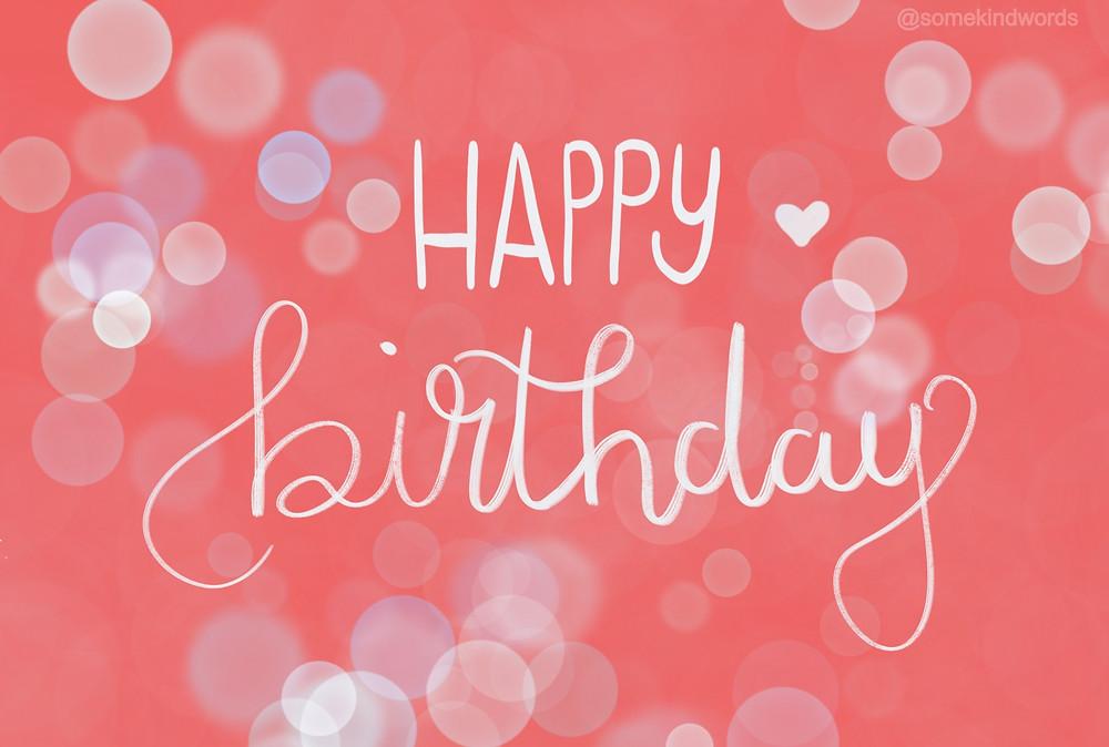Happy Birthday Card red bubbles by Somekindwords, happy birthday, geburtstag, karte, kostenlos, versenden, zum ausdrucken, Geburtstagskarte, happy birthday karte, glückwünsche, digital, speichern, vorlage,  kostenlos