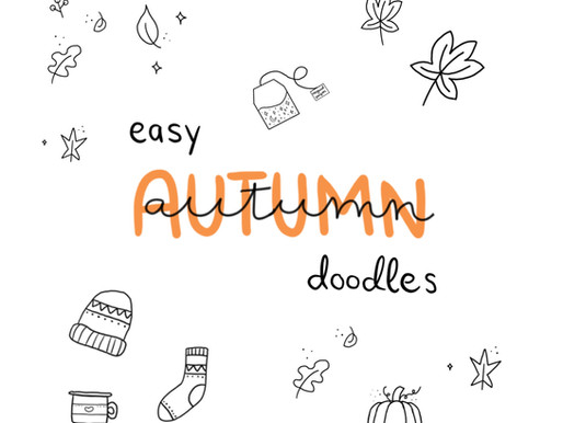 Tutorial: easy autumn doodles and free template for tracing