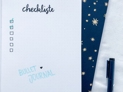 Checklist for your perfect Bullet Journal Start