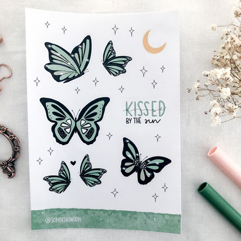 mint-green butterflies 3 @somekindwords.