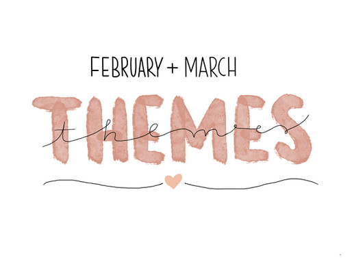February and March bullet journal theme ideas