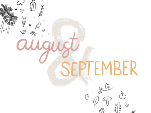 Bullet Journal ideas for August and September