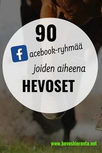 Suomenkieliset hevosryhmät Facebookissa