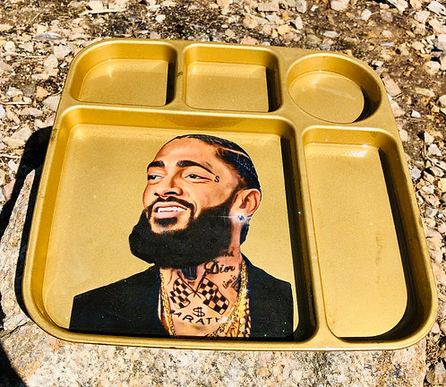 Nipsey Hussle Gold chain rolling tray