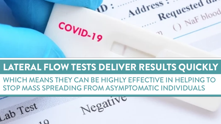 WHERE LATERAL FLOW TESTS HAVE THE UPPER HAND OVER PCR