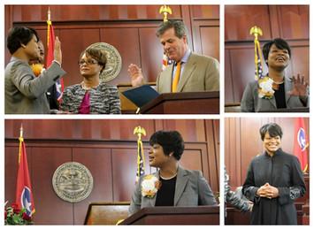 Judge Bell is sworn in 2012.JPG