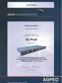 Agfeo Zertifikat ES-Profi