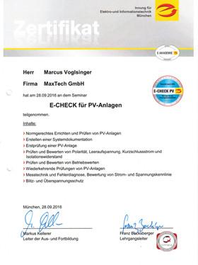 PV-Zertifikat
