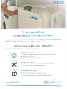Zertifikat Hersteller-geprüfter Fachinstallateur