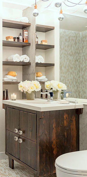 studio blu inc, custom vanity cabinet, mercury bulbs, bathrom remodel, the wood idea,