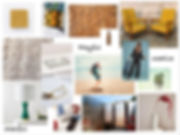 studiobluinc, mood board,venice ca, midcentury inspiration, coloful room