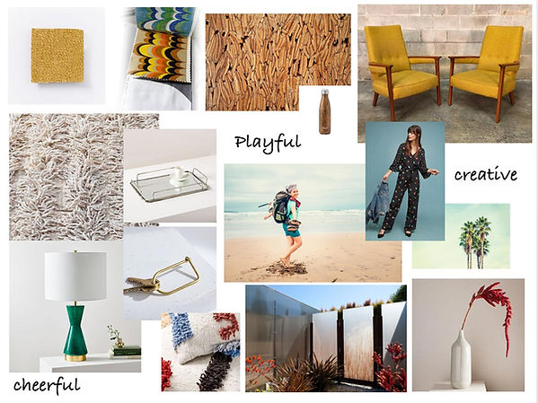 studiobluinc, mood board,venice ca, midcentury inspiration, coloful room