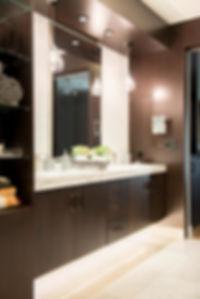 mastebathroom, modern bathroom, hidden medicine cabinet, the wood idea