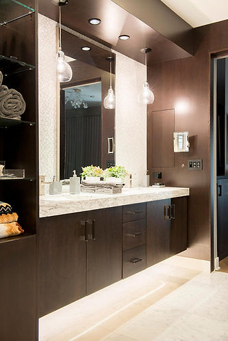 mastebathroom, modern bathroom, hidden medicine cabinet, the wood idea