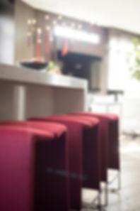 studio blu inc, red counter stools, B&B Italia, Modern kitchen