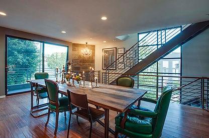 studio blu inc, kelly green diningroom, loft,venice beach ca.