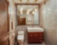 glass barn door, bathroom remodel, grey bathroom, playa condo