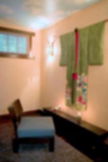 meditationroom, painted cloud ceiling, mansor modern rug, ralph lauren wal paper, venice ca interior designer, manhattan beach interior designer