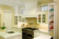 Yellow kitchen, white shaker cabinets, fiesta ware, subzero fridge, marina del rey interior designer