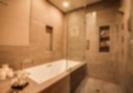 Studio Blu Inc, bathroom remodel, Kohler drop in tub,