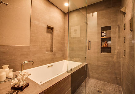 Studio Blu Inc, bathroom remodel, Kohler drop in tub,