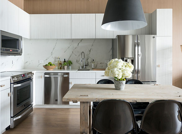 Studio Blu Inc, Kitchen remodel, Dekton slabs, LG appliances, CB2 Light, Modern kitchen, light grey cabinets, Dwell magazine