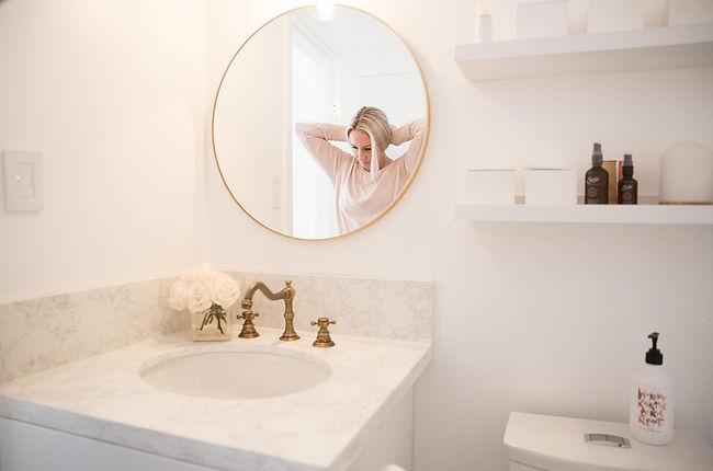 Studio Blu Inc, Westchester CA. interior designer, Westchester CA. Pilates Studio, White fresh interiors, White Bathroom