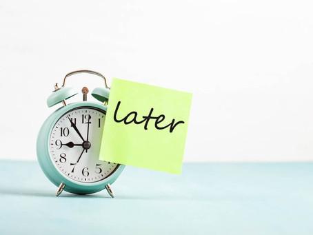 A arte de procrastinar