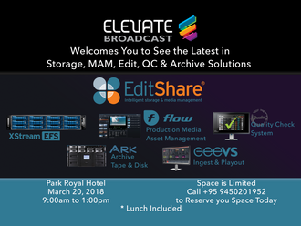 Elevate Hosts EditShare for Seminar on Storage and MAM solutions