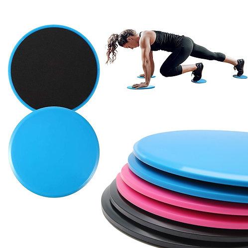 2pcs Fitness Gliders Workout Bums Leg Slide Discs Core Sliders Plate