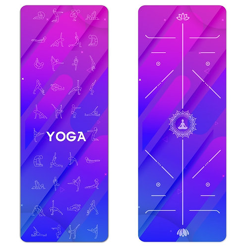 Position Line Suede Yoga Mat With Yoga Bag