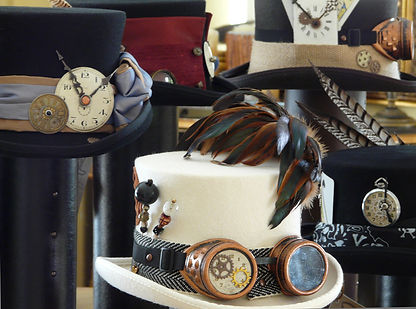 Vintage Timepieces on Handmade Top Hats