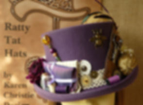 Steampunk Top Hats & Bowlers by Ratty Tat Hats | Little Florist