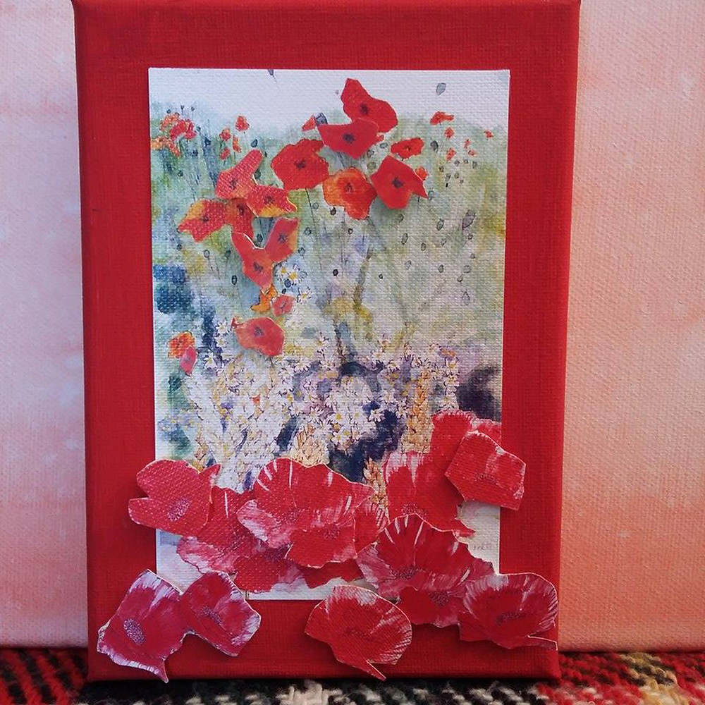 Poppies by Lyn E F Waddell