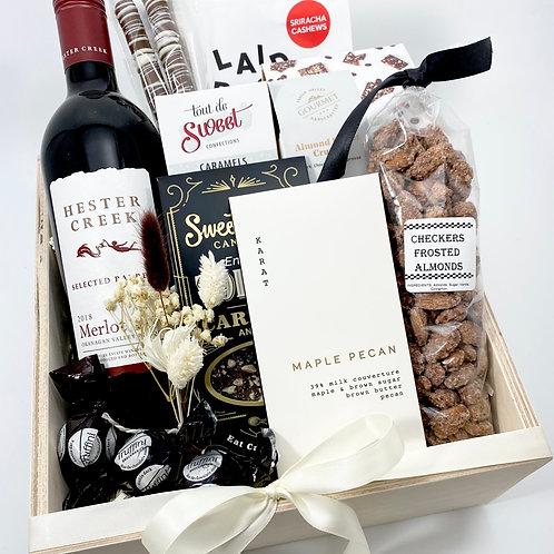 Wine Box with Treats