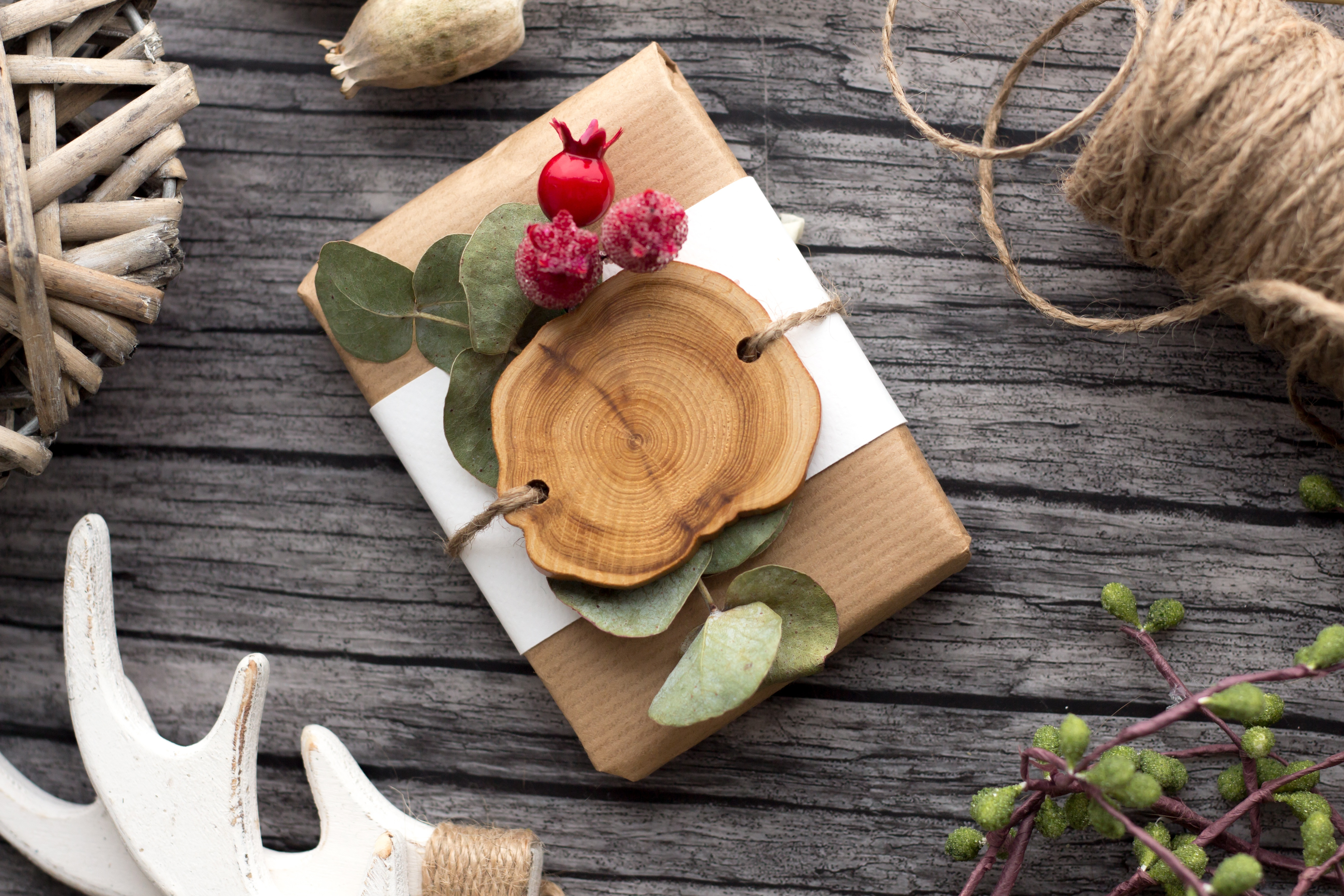 Canva - Top view of a Gift Box on a Wood