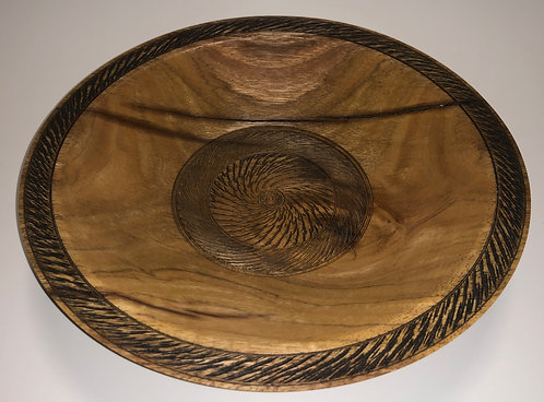 Ornamental Textured Spotted Gum Bowl