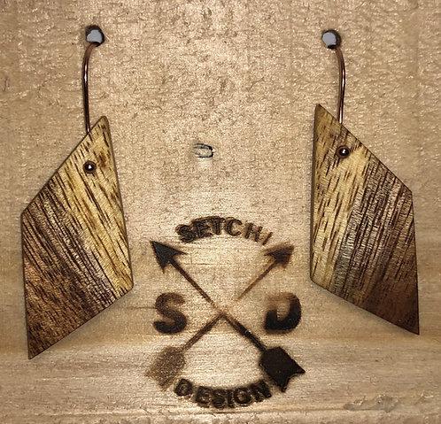 Natural Wooden Earrings