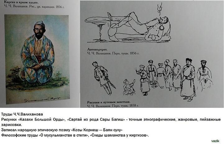 Рисунки Ч.Ч.Валиханова
