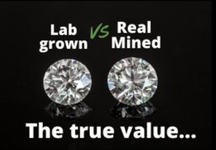 Lab grown VS Real mined Diamonds