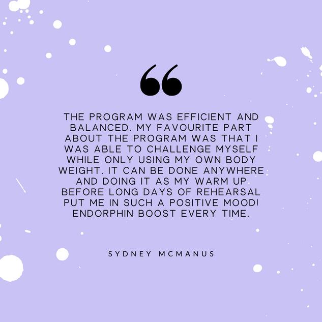 Sydney Mcmanus Review