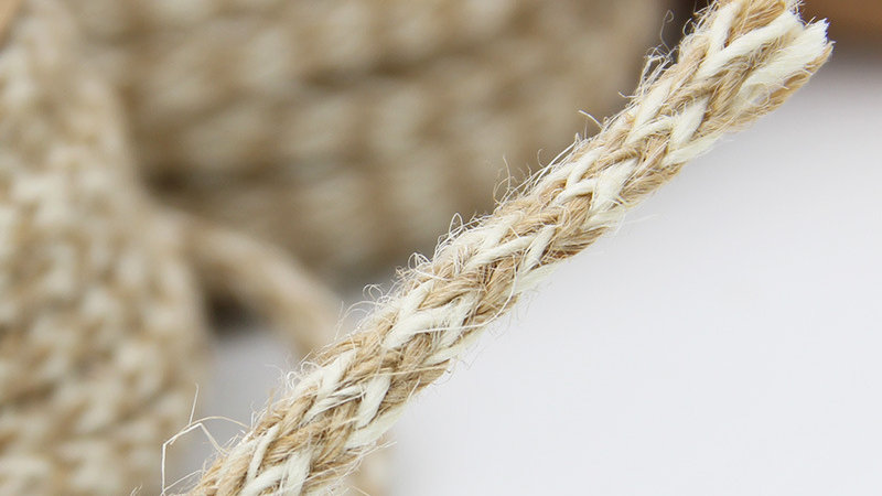 Round Jute and Cotton Braided Cord
