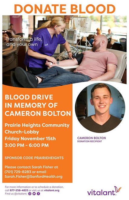 Blood drive in memory of Cameron