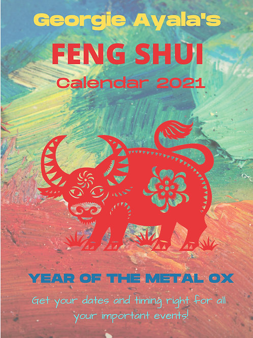 "Feng Shui Lucky Days Calendar of the Year 2021 ""The Metal OX"""