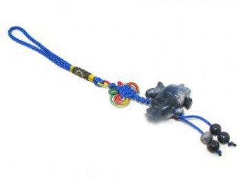 Blue Rhino & Elephant Aventurine Keychain