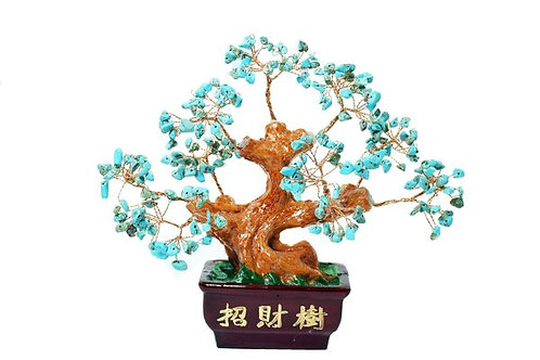 Blessed Money Tree Natural Turquoise Quartz Crystal