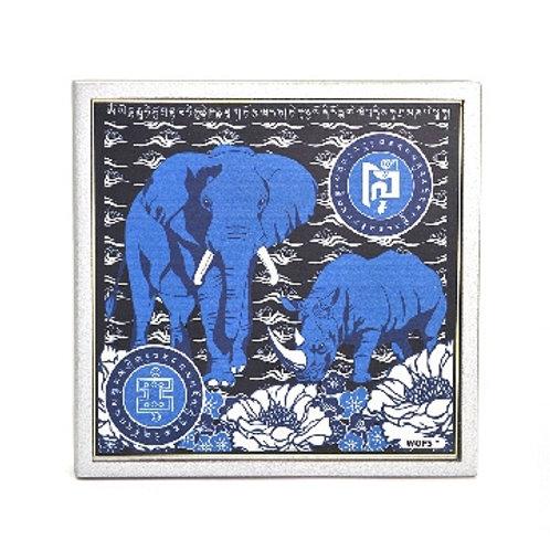 Anti Burglary Rhino and Elephant Mantra Plaque 2020
